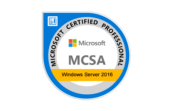 MCSA: Windows Server 2016 Exams